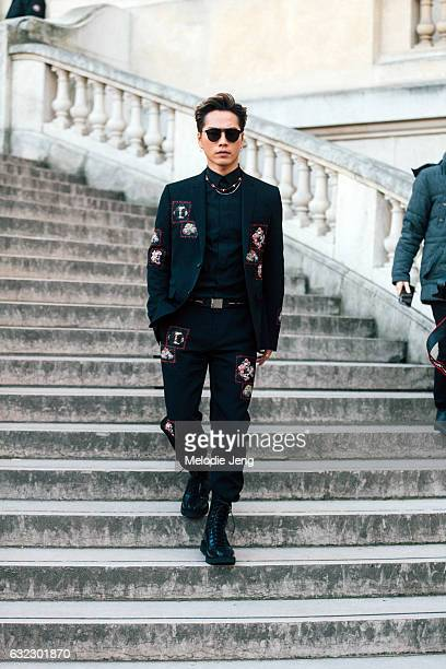 Hiroomi Tosakaat the Dior Homme show at Grand Palais on January 21 2017 in Paris France