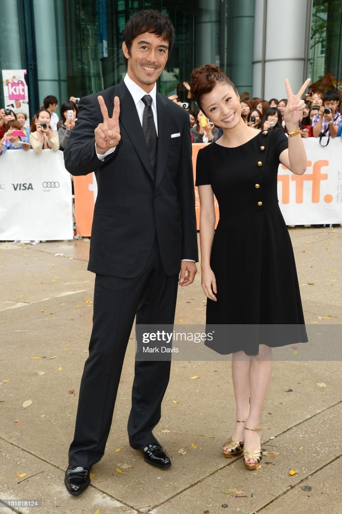 Hiroshi Abe (L) and <a gi-track='captionPersonalityLinkClicked' href=/galleries/search?phrase=Aya+Ueto&family=editorial&specificpeople=2116424 ng-click='$event.stopPropagation()'>Aya Ueto</a> attend the 'Thermae Romae' premiere during the 2012 Toronto International Film Festival at Roy Thomson Hall on September 8, 2012 in Toronto, Canada.