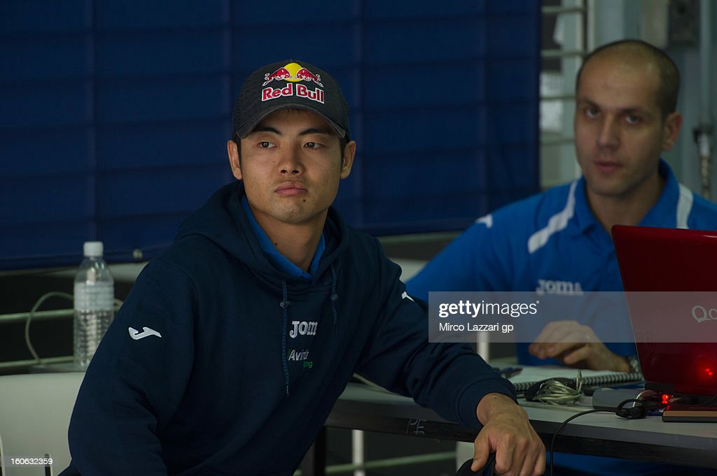 <a gi-track='captionPersonalityLinkClicked' href=/galleries/search?phrase=Hiroshi+Aoyama&family=editorial&specificpeople=565531 ng-click='$event.stopPropagation()'>Hiroshi Aoyama</a> of Japan and Avintia Racing MotoGP looks on during the MotoGP - CRT Tests in Sepang - Day Two at Sepang Circuit on February 4, 2013 in Kuala Lumpur, Malaysia.