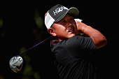 Hiroshi Iwata of Japan plays his shot from the first tee during Round Three at the ATT Byron Nelson on May 21 2016 in Irving Texas