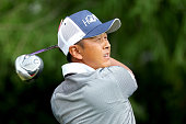 Hiroshi Iwata of Japan plays his shot from the second tee during the Final Round at ATT Byron Nelson on May 22 2016 in Irving Texas