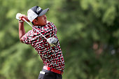 Hiroshi Iwata of Japan plays his shot from the seventh tee during Round Two at the ATT Byron Nelson on May 20 2016 in Irving Texas