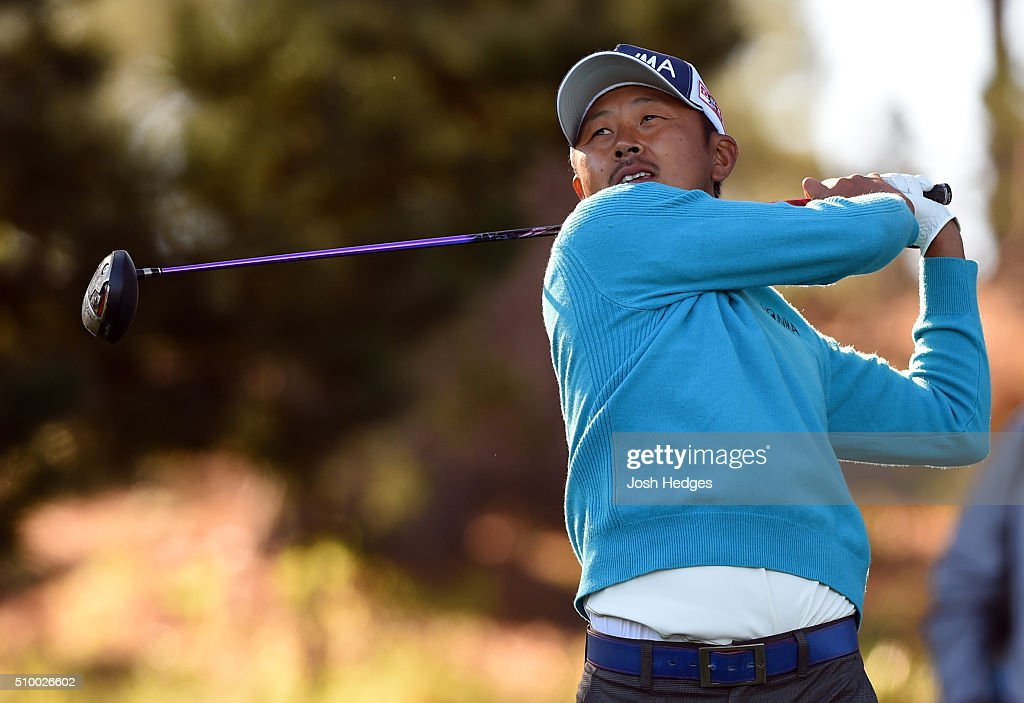 <a gi-track='captionPersonalityLinkClicked' href=/galleries/search?phrase=Hiroshi+Iwata&family=editorial&specificpeople=4696166 ng-click='$event.stopPropagation()'>Hiroshi Iwata</a> of Japan plays his tee shot on the 11th hole during round three of the AT&T Pebble Beach National Pro-Am at the Spyglass Hill Golf Course on February 13, 2016 in Pebble Beach, California.