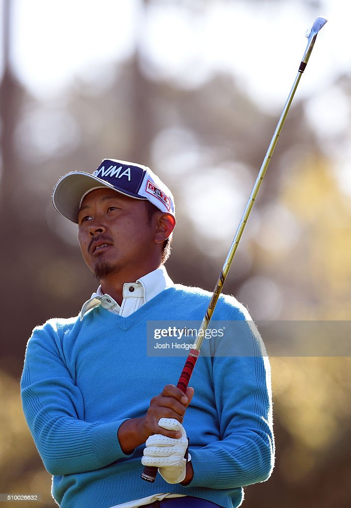 <a gi-track='captionPersonalityLinkClicked' href=/galleries/search?phrase=Hiroshi+Iwata&family=editorial&specificpeople=4696166 ng-click='$event.stopPropagation()'>Hiroshi Iwata</a> of Japan plays his tee shot on the 12th hole during round three of the AT&T Pebble Beach National Pro-Am at the Spyglass Hill Golf Course on February 13, 2016 in Pebble Beach, California.