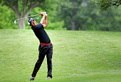 Hiroshi Iwata plays his second shot on the 15th hole during Round Three at the ATT Byron Nelson on May 21 2016 in Irving Texas