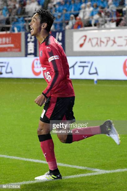 Hiroshi Kiyotake of Cerezo Osaka celebrates scoring his side's second goal during the JLeague J1 match between Sagan Tosu and Cerezo Osaka at Best...