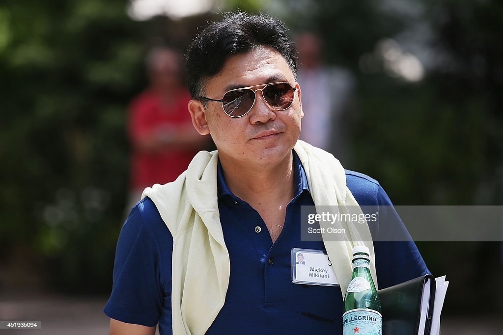 Hiroshi 'Mickey' Mikitani, chairman and chief executive officer of Rakuten Inc.,, attends the Allen & Company Sun Valley Conference on July 9, 2014 in Sun Valley, Idaho. Many of the worlds wealthiest and most powerful business people from media, finance, and technology attend the annual week-long conference which is in its 32nd year.