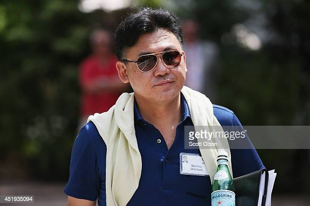Hiroshi 'Mickey' Mikitani chairman and chief executive officer of Rakuten Inc attends the Allen Company Sun Valley Conference on July 9 2014 in Sun...