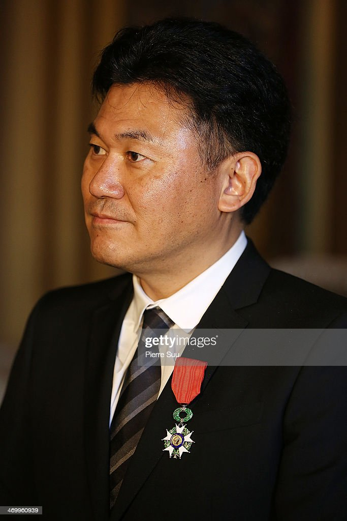 <a gi-track='captionPersonalityLinkClicked' href=/galleries/search?phrase=Hiroshi+Mikitani&family=editorial&specificpeople=2208204 ng-click='$event.stopPropagation()'>Hiroshi Mikitani</a>, chairman and chief executive officer of Rakuten Inc. receives Legion Of Honor Decoration at the French Ministry of Foreign Affairs on February 17, 2014 in Paris, France.