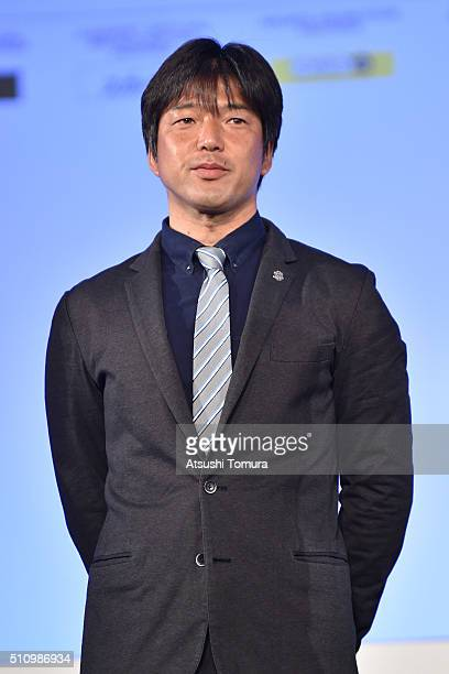 Hiroshi Nanami head coch of Jubilo Iwata attends 2016 J League Press Conference at Grand Prince Hotel Shin Takanawa on February 18 2016 in Tokyo Japan