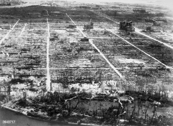 Hiroshima after the atom bomb explosion