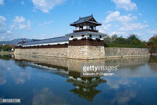 Hiroshima Castle and moat, Hiroshima, Japan : Stock Photo