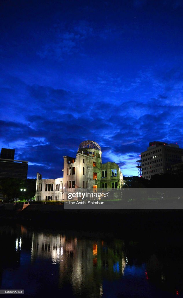 Hiroshima Peace Memorial, commonly called the Atomic Bomb Dome is seen at the Hiroshima Peace Memorial Park in the morning of August 6, 2012 in Hiroshima, Japan. Hiroshima marks the 67th anniversary of its atomic bombing under the shadow of the Fukushima nuclear disaster and by issuing a plea for complete nuclear disarmament.