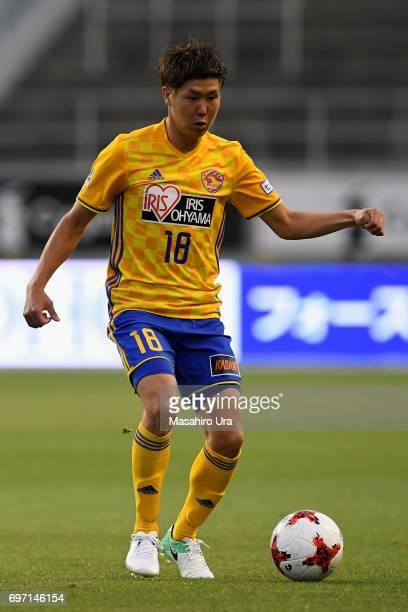Hirotaka Mita of Vegalta Sendai in action during the JLeague J1 match between Sagan Tosu and Vegalta Sendai at Best Amenity Stadium on June 17 2017...