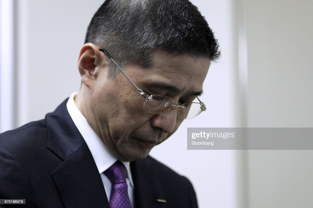 Nissan Motor President & CEO Hiroto Saikawa Submits Report On Inspection Scandal To Transport