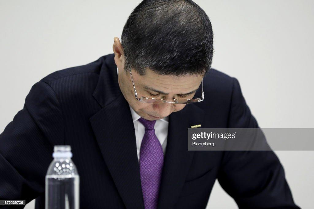 Nissan Motor President & CEO Hiroto Saikawa News Conference