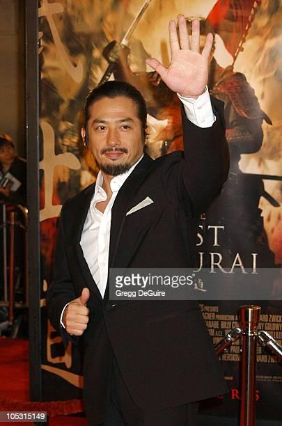 Hiroyuki Sanada during 'The Last Samurai' Los Angeles Premiere at Mann Village Theatre in Westwood California United States