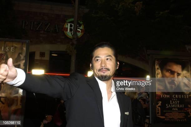 Hiroyuki Sanada during 'The Last Samurai' Los Angeles Premiere at Mann's Village Theater in Westwood California United States