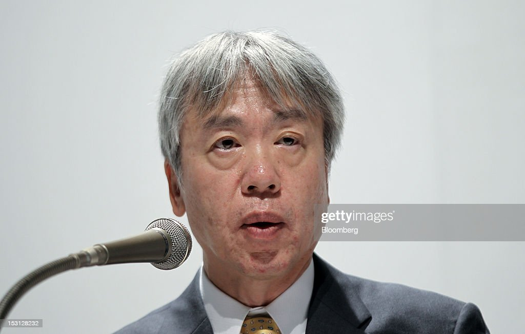 <a gi-track='captionPersonalityLinkClicked' href=/galleries/search?phrase=Hiroyuki+Sasa&family=editorial&specificpeople=8947910 ng-click='$event.stopPropagation()'>Hiroyuki Sasa</a>, president and chief executive officer of Olympus Corp., speaks during a joint news conference with Kazuo Hirai, president and chief executive officer of Sony Corp., unseen, in Tokyo, Japan, on Monday, Oct. 1, 2012. Sony Corp., seeking ways to revive growth after four years of losses, will invest 50 billion yen ($645 million) in Olympus Corp., the world's biggest maker of endoscopes, according to finance ministry filings. Photographer: Koichi Kamoshida/Bloomberg via Getty Images