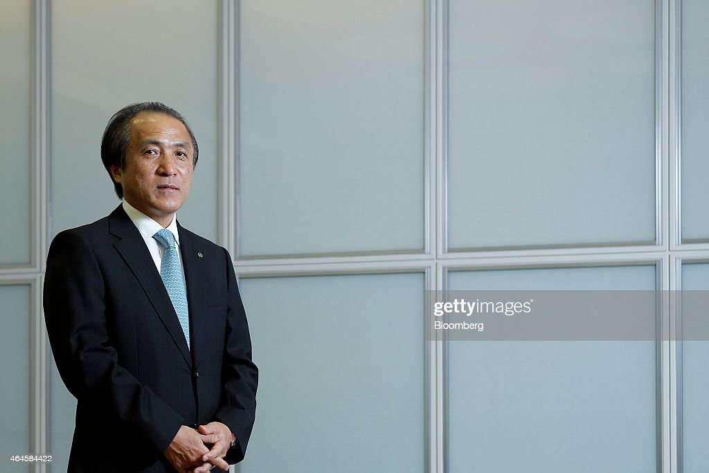 Hiroyuki Yanagi, president and chief executive officer of Yamaha Motor Co., poses for a photograph at the company's headquarters in Iwata, Shizuoka Prefecture, Japan, on Thursday, Feb. 26, 2015. Yamaha aims to double the operating profit margin of its motorcycle business by the end of 2018 as the worlds second-largest motorcycle maker lowers costs and introduces new products. Photographer: Kiyoshi Ota/Bloomberg via Getty Images