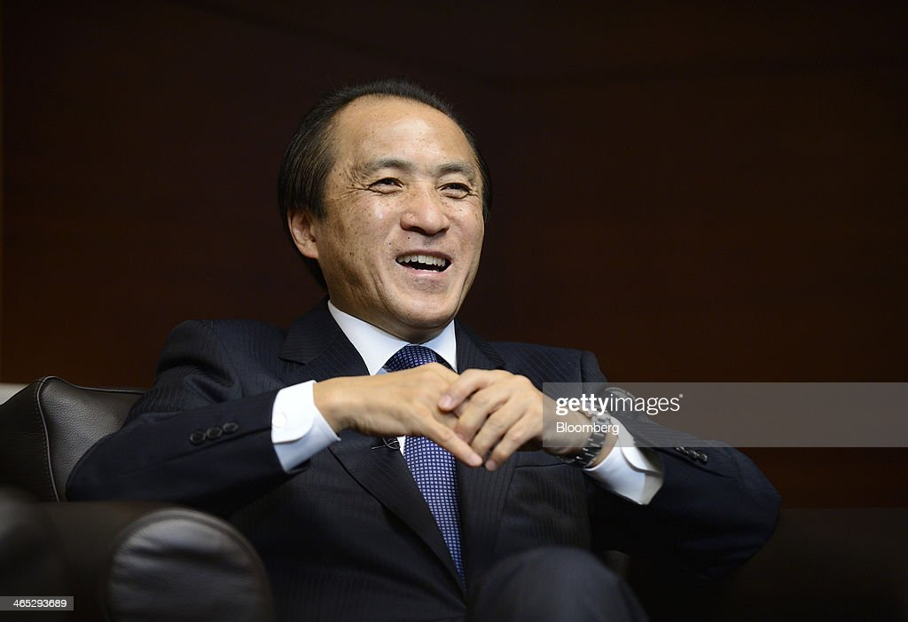 <a gi-track='captionPersonalityLinkClicked' href=/galleries/search?phrase=Hiroyuki+Yanagi&family=editorial&specificpeople=2322752 ng-click='$event.stopPropagation()'>Hiroyuki Yanagi</a>, president and chief executive officer of Yamaha Motor Co., reacts during an interview in Tokyo, Japan, on Thursday, Jan. 23, 2014. Yamaha Motor, the world's second-largest motorcycle maker, said it probably met a reduced 2013 sales target in Indonesia and expects to at least maintain the level of deliveries in its largest market this year. Photographer: Akio Kon/Bloomberg via Getty Images
