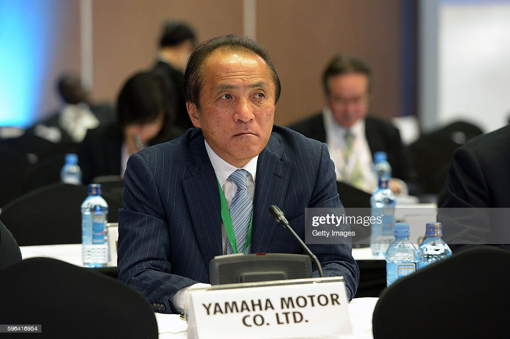 Hiroyuki Yanagi President CEO and Representative Director of Yamaha Motor Co Ltd attends the Tokyo International Conference on African Development VI...