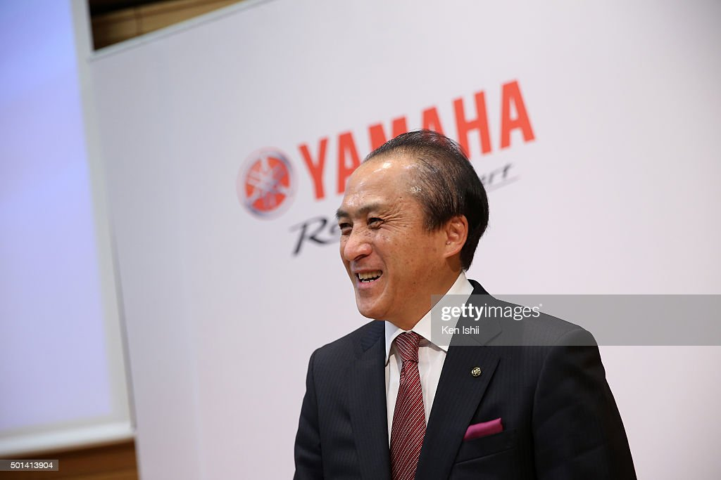 <a gi-track='captionPersonalityLinkClicked' href=/galleries/search?phrase=Hiroyuki+Yanagi&family=editorial&specificpeople=2322752 ng-click='$event.stopPropagation()'>Hiroyuki Yanagi</a>, President, Chief Executive Officer and Representative Director of Yamaha Motor Co., LTD announces their new medium-term business plan for three-year period 2016-2018 on December 15, 2015 in Tokyo, Japan. The plan targets the net sales of two trillion yen and an operating income ratio of 10 percent by 2018.
