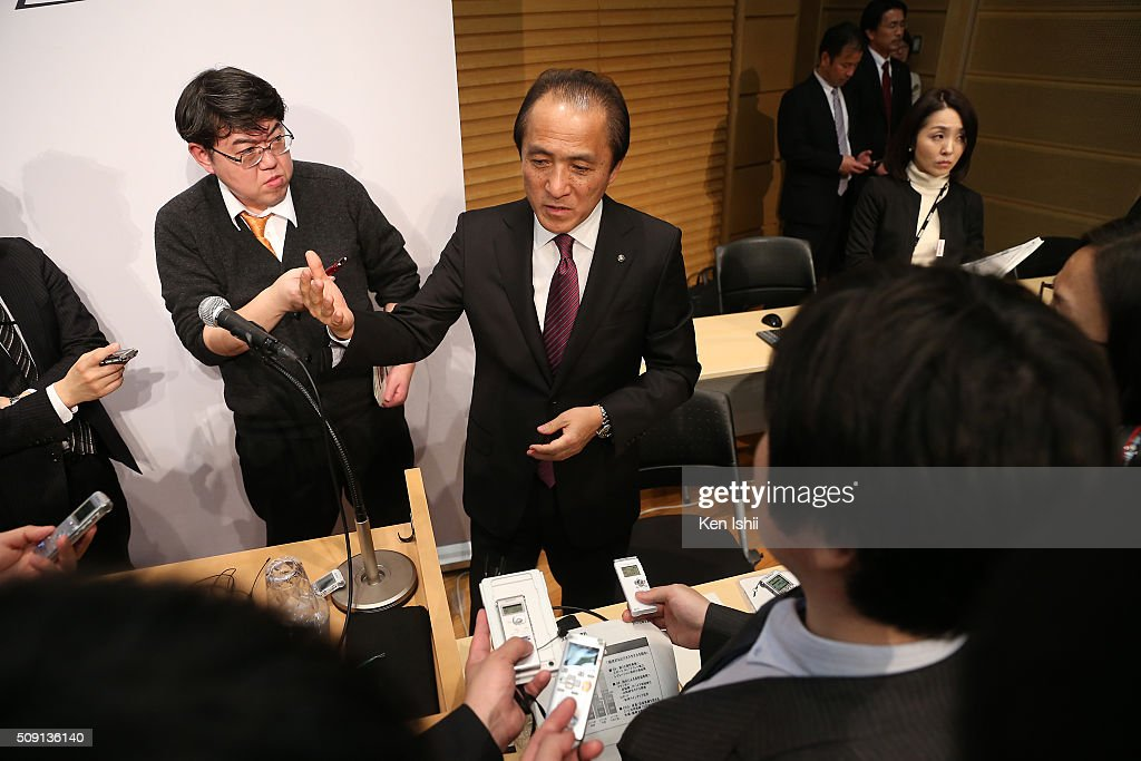 <a gi-track='captionPersonalityLinkClicked' href=/galleries/search?phrase=Hiroyuki+Yanagi&family=editorial&specificpeople=2322752 ng-click='$event.stopPropagation()'>Hiroyuki Yanagi</a>, President, Chief Executive Officer and Representative Director of Yamaha Motor Co., Ltd. speaks to the media after announces their consolidated fiscal business results of 2015 at the the Meiji Yasuda Seimei Building on February 9, 2016 in Tokyo, Japan. The operating income for the fiscal year ended on December 31, 2015 for the company rose 38.0 percent to 120.4 billion yen, and net sales rose 6.2 percent to 1,615.4 billion yen.