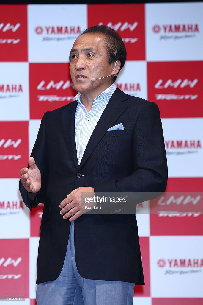<a gi-track='captionPersonalityLinkClicked' href=/galleries/search?phrase=Hiroyuki+Yanagi&family=editorial&specificpeople=2322752 ng-click='$event.stopPropagation()'>Hiroyuki Yanagi</a>, president of YAMAHA MOTOR, speaks to the media during the talk session at the YAMAHA TRICITY launch and test-ride event at UDX on July 1, 2014 in Akihabara, Tokyo, Japan.