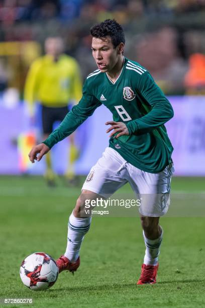 Hirving Lozano of Mexico during the friendly match between Belgium and Mexico on November 10 2017 at the Koning Boudewijn stadium in Brussels Belgium