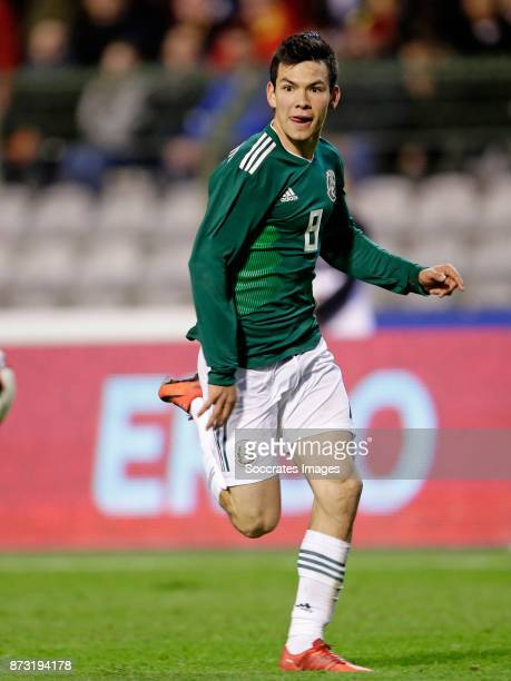 Hirving Lozano of Mexico during the International Friendly match between Belgium v Mexico at the Koning Boudewijnstadion on November 10 2017 in...
