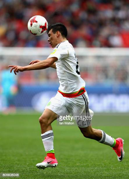 Hirving Lozano of Mexico in action during the FIFA Confederations Cup Russia 2017 PlayOff for Third Place between Portugal and Mexico at Spartak...