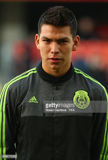 Hirving Lozano of Mexico is seen prior to the FIFA U20 World Cup New Zealand 2015 Group D match between Serbia and Mexico at Otago Stadium on June 6...