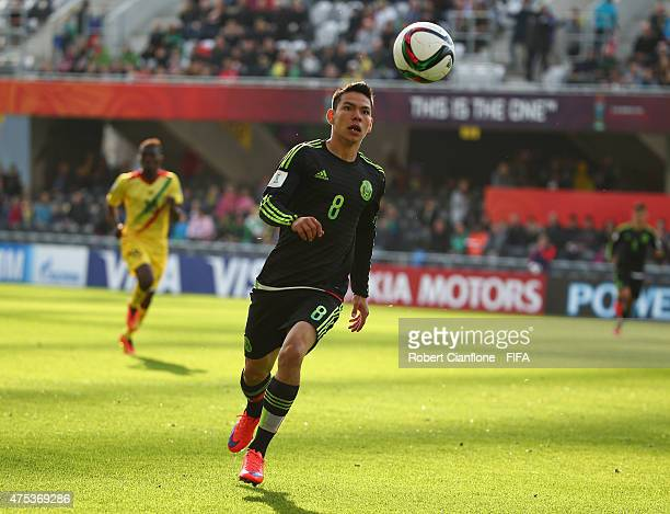 Hirving Lozano of Mexico watches the ball during the FIFA U20 World Cup New Zealand 2015 Group D match between Mexico and Mali at Otago Stadium on...