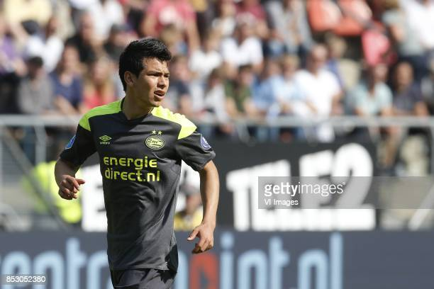 Hirving Lozano of PSV during the Dutch Eredivisie match between FC Utrecht and PSV Eindhoven at the Galgenwaard Stadium on September 24 2017 in...