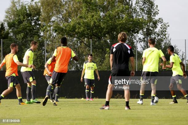 Hirving Lozano of PSV during the preseason summer training camp of PSV Eindhoven at Stade StMarc on July 18 2017 in Bagnes Switzerland