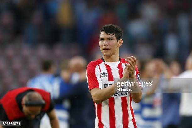 Hirving Lozano of PSV during the UEFA Europa League third qualifying round first leg match between PSV Eindhoven and Osijek at Philips Stadium on...