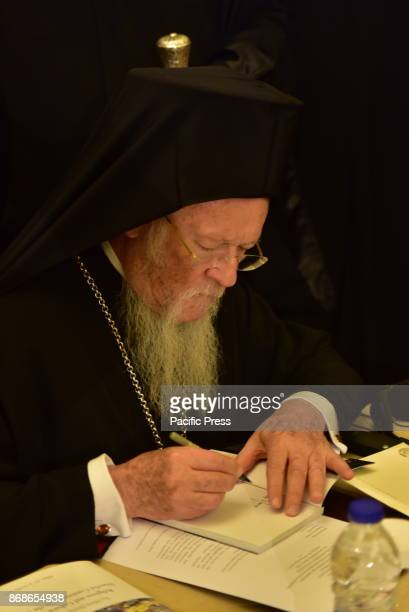 HOTEL ATHENS ATTIKI GREECE His All Holiness Bartholomew Archbishop of Constantinople New Rome and Ecumenical Patriarch during the 2nd Athens...