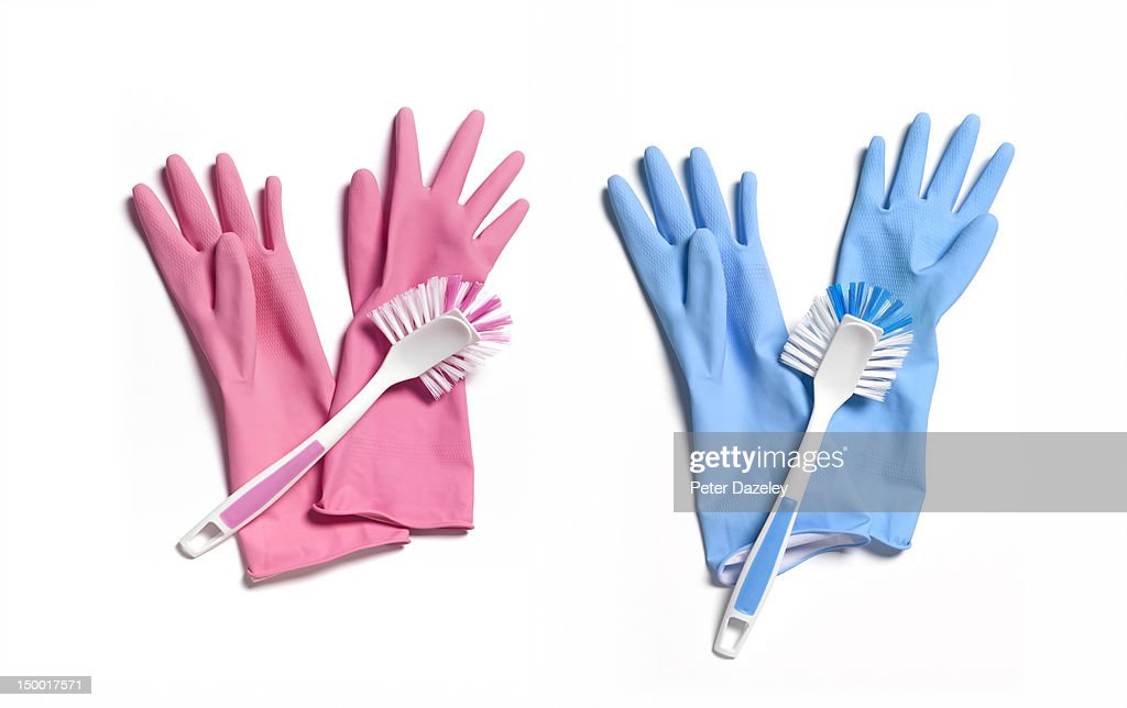 'His and hers' washing up gloves