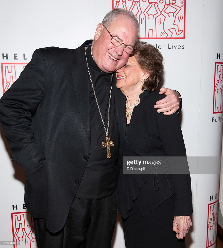 His Eminence Timothy Cardinal Dolan and Matilda Cuomo attend Help USA's 2014 Tribute Awards Dinner at 583 Park Avenue on March 12 2014 in New York...