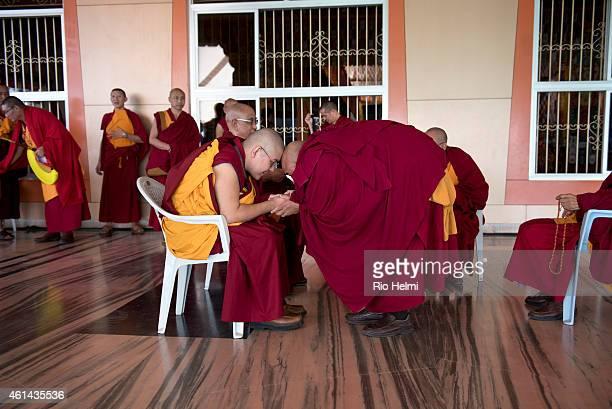 SETTLEMENT MUNDGOD KARNATAKA INDIA His Eminence Yongdzin Ling Rinpoche reincarnate tutor of the Dalai Lama and prime sponsor and initiator of the...
