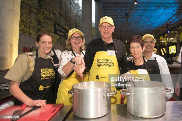 His Excellency General David Hurley Governor of NSW with his wife Mrs Linda Hurley at the OzHarvest CEO Cookoff on March 6 2017 in Sydney Australia...
