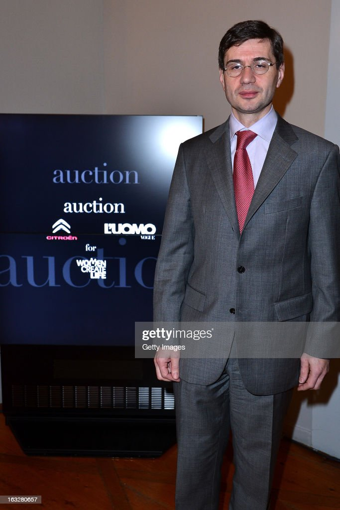 His Excellency Mr. Nicolas Niemtchinow, France Ambassador to Switzerland attends the charity auctioning of the first 'Citroen DS3 Cabrio L'Uomo Vogue' hosted by L'Uomo Vogue and Citroen at the Permanent Mission of France to the United Nations Office on March 6, 2013 in Geneva, Switzerland.