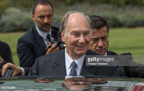 His Highness Shah Karim alHussaini Prince Aga Khan leaves NOVA University of Lisbon at the end of the ceremony in which Prince Aga Khan was awarded...