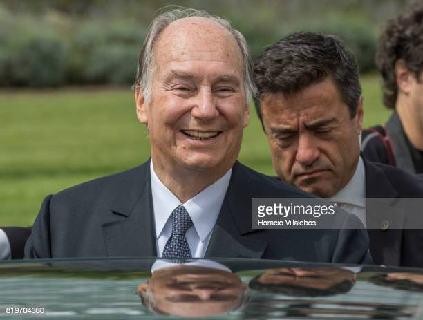 His Highness Shah Karim alHussaini Prince Aga Khan smiles while leaving NOVA University of Lisbon at the end of the ceremony in which Prince Aga Khan...