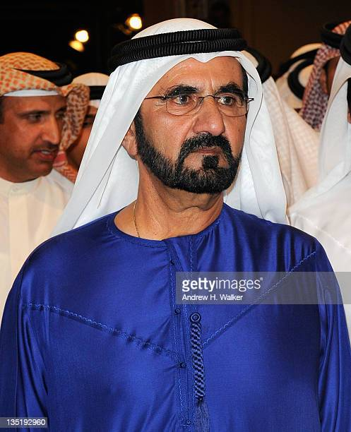 His Highness Sheikh Mohammed Bin Rashid Al Maktoum attends the 'Mission Impossible Ghost Protocol' Premiere during day one of the 8th Annual Dubai...