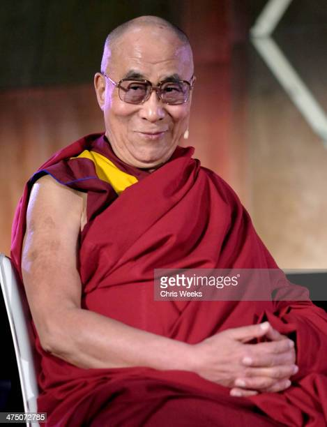 His Holiness the 14th Dalai Lama attends The Lourdes Foundation 'Leadership in the 21st Century' Event with His Holiness the 14th Dalai Lama at the...