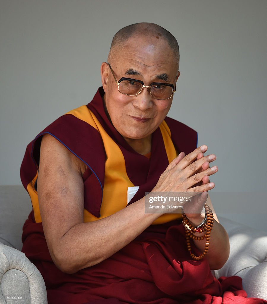 His Holiness the 14th Dalai Lama speaks onstage at the Peak Mind Foundation's event at Rancho Las Lomas on July 4, 2015 in Silverado Canyon, California.
