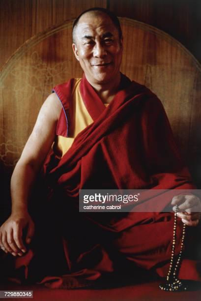 His Holiness the Dalai Lama at his home in Dharamsala India circa 1991
