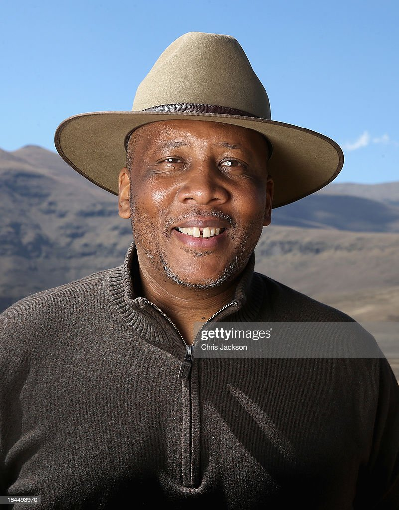 His Majesty King Letsie III of Lesotho poses for a portrait at the opening ceremony of the new Sentebale Mateanong Herd Boy School during a visit to the site on October 14, 2013 in Mokhotlong, Lesotho. Sentebale provides healthcare and education to the vulnerable children of Lesotho, a land-locked mountainous South African Kingdom. The charity was started in 2006 by Prince Seeiso of Lesotho and Prince Harry.